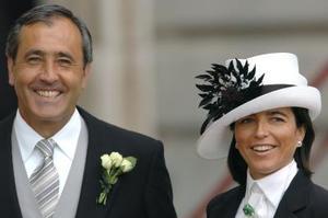 Severiano Ballesteros y su esposa, Carmen Botín