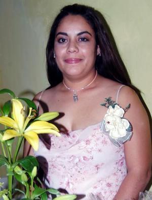 Claudia González Vega, captada en su despedida de soltera.