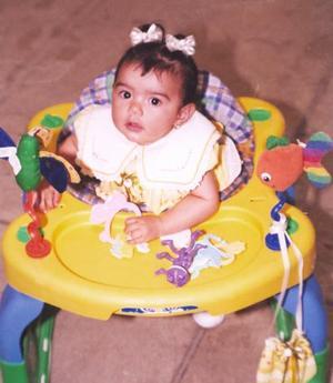 Dinia Fernanda Arreola Guajardo, captada a la edad de siete meses.