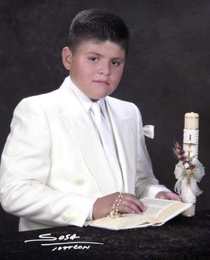 Niño Pedro Alfonso Sánchez Ríos recibió la sagrada eucaristía de la comunión en días pasados.
