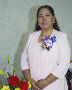 Delia Nélida González Urbano, captada en los pasados festejos del Día del Maestro.