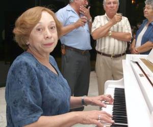 La pianista Concepción Nájera.