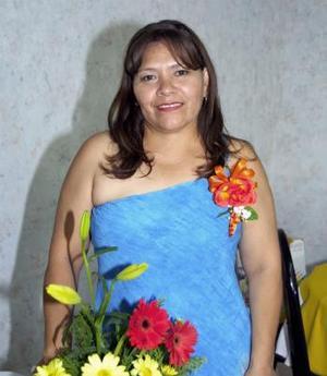 Romelia Almaraz Hernández, en pasado acontecimiento social.