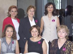 Norma Medina González, Irma Rodríguez de Strozzi, María Teresa Rodríguez de Colunga, Olivia D. de Baille, Alicia García de Solís y Sandra García de Hernández.