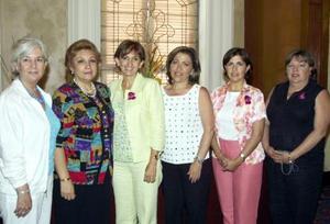 <u><b> 24 de mayo </u> </b><p> Rosy Mejía de Flores, Ángeles de Balcázar, Noris Álvarez de Arzamendi, Aída Elena López de Gutiérrez, Martha López de Guerra y Mónica de Flores.