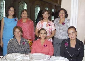 Jaqueline Posadas, Chela Navarro de Posadas, Martha V. de De la O., Martha MArtínez de L., Martha López de Guerra, Norma S. de Ambía y Denisse de Obando.