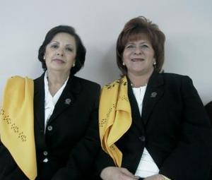 Marina P. de Pruneda y Patricia M. de Villarreal, integrantes de ANSPAC Laguna.