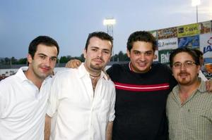 Ricardo Solana, Alejandro Gidi, Juan Carlos Carmona y Pedro Aguirre vivieron del gran ambiente vaquero.