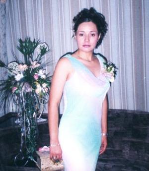 Cristina Reyes Medina, en su despedida de soltera.