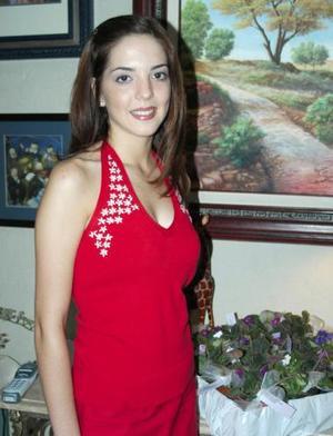 María Fernanda Ortiz Woolfolk, en la despedida de soltera que le ofrecieron.