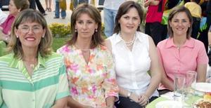 Charo Villarreal, Nena Fernández, Márgara von Bertrab e Isabel Villarreal.
