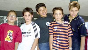 Guillermo Serna, Esteban Villarreal, Andrés Hermosillo y Benjamín Tumoine.