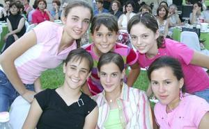 <u><b> 03 de Junio </u> </b><p>  Pilar González, María Cuéllar, -tony Sosa, Gretchen Campuzano, Ana Cris Estrada y Cristina Elizondo.