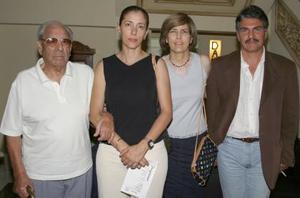 <u><b> 03 de Junio </u> </b><p> Mariano Barraza, Gabriela Ramos, Rosario Ramos de G. y Luis Tueme.