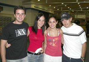 Joaquín De Nigris, Mónica González, Lorella Franco y Carlos Torres.
