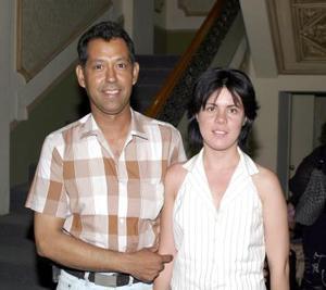 Miguel Castañeda y Eugenia Preece.