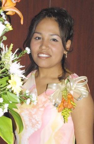 Heidi Consuelo Villarreal Espinoza, captada en su despedida de soltera.