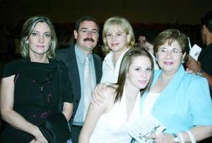 Inés Pérez Gavillán de Soto, René Alonso, Carolina de Alonso, Yolanda Porragas y Estefanía Leal.