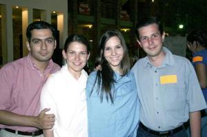 Rogelio Barrios, Gaby del Bosque, Mariana y Javier Robles.