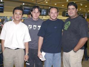 Daniel Lee, Carlos Herreral, Manolo Díaz y Javier Berumen