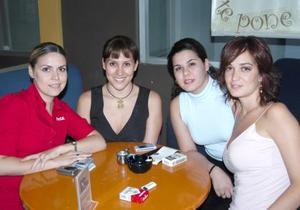 Carmen María, Brenda, Magda y Paulina