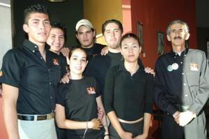 Isaac Rojas, Dante López, Omar Caldera, Fernanado Bravo, Montserrat Leal, Marcela Cárdenas y Lauro Orlando García