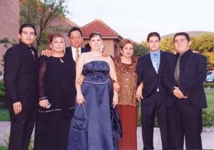 Luis Mario, Mantserrat, Luis Ernesto Rebolloso, Lourdes de Rebollozo, Luis Rebolloso Márquez y Rosario Ávila de Flores, en pasado festejo social.