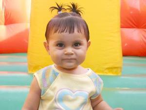 Con una fiesta infantil celebraron el primer cumpleaños de Susan Azeneth Orozco Palacios