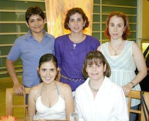 <u><b> 11 de Junio </u> </b><p> Verónica de Murillo, Biby de Barrera, Yolanda de Robles, Luz de Martínez y Conchis de Bredeé.