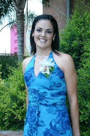 Cecilia Ortiz Saborit, captada en su despedida de soltera realizada en días pasados.