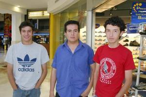 Ricardo del Valle, Javier Morales y Michel Godínez.