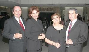 Juan Abusaid Rodríguez, LEticia Barrera de Abusaid, Artemiza Arellano de Helguera y Ramón Helguera.