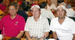 Federico Montoya, Jesús de Lara H., y Jesús de Lara.