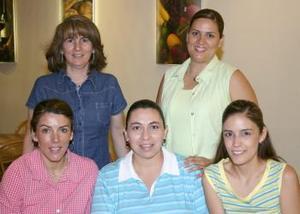 Coco Zúñiga, Oly Arizpe, Gaby Huerta, Jaqueline Aguilera e Hilda Vázquez.