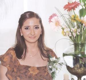 Mónica Cortés Govea, en su primera despedida de soltera.