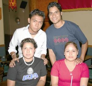 Abiel Omar Escalante, Felipe Dávila Contreras, Laura Paola y Paola Ortiz.