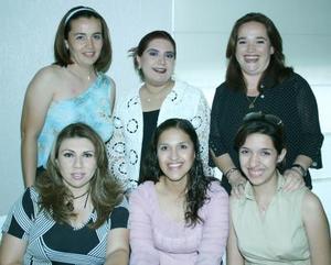 Marina Ruiz , Lupita de Huerta, Claudia Mena, Coquis de Sagui, Liz durán y Emyli en pasado acontecimiento social.