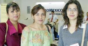 <u><b> 18 de Junio </u> </b><p> Alejandra Granados viajó al DF y fue despedida por Olga Viera y Alejandra Ramírez.