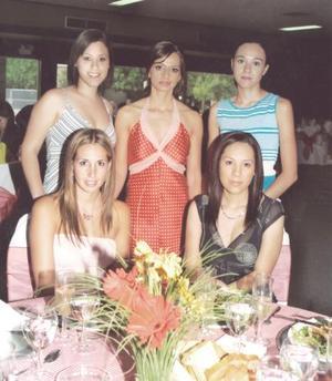 Carolina Cepeda, Isabel Gurza, Joanna Miñarro y Carol Posadas fueron alguans de las invitadas a la despedida de Gloria González Magaña.