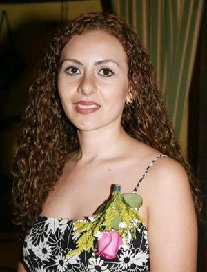 Gabriela Sánchez en su despedida de soltera.
