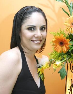 Claudia Cristina Montañez Rivera, captada en su despedida de soltera
