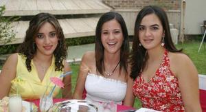 Karen Rojas, Paty Llama y Sofía López.