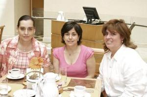 Gabriela Granados, Hilda Quintañilla y Marcela Borreg