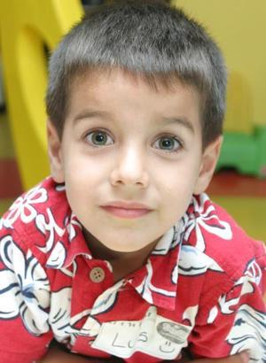 Luis Medrano Diez, captado en su fiesta por su quinto cumpleaños.