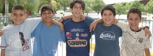 Rodrigo del Río, Luis Ángel Gómez, Daniel González, Jaime Zertuche y juan Cristóbal Prieto.