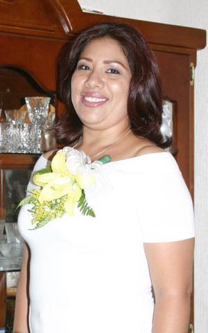 Gabriela Padilla, captada en su despedida de soltera.