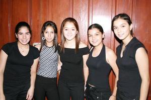 <u><b> 28 de Junio </u> </b><p>    Sofía Luna, Claudia Marmolejo, Ana Karen Gamboa, Carolina Gamboa y Bárbara Castro.