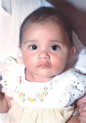 La pequeña Ana Lucía Valdez García, hija de los señores Eduardo Valdez Rueda y Lucía de Valdez.