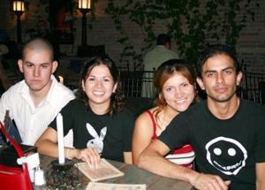 César Lazarín, Alina Quiñónez, Fabiola García y Carlos Magaña.