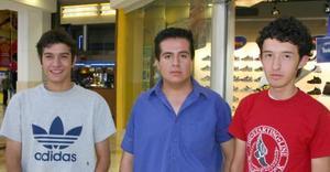 Ricardo Augusto del Valle, Javier Morales y Michel Godínez.